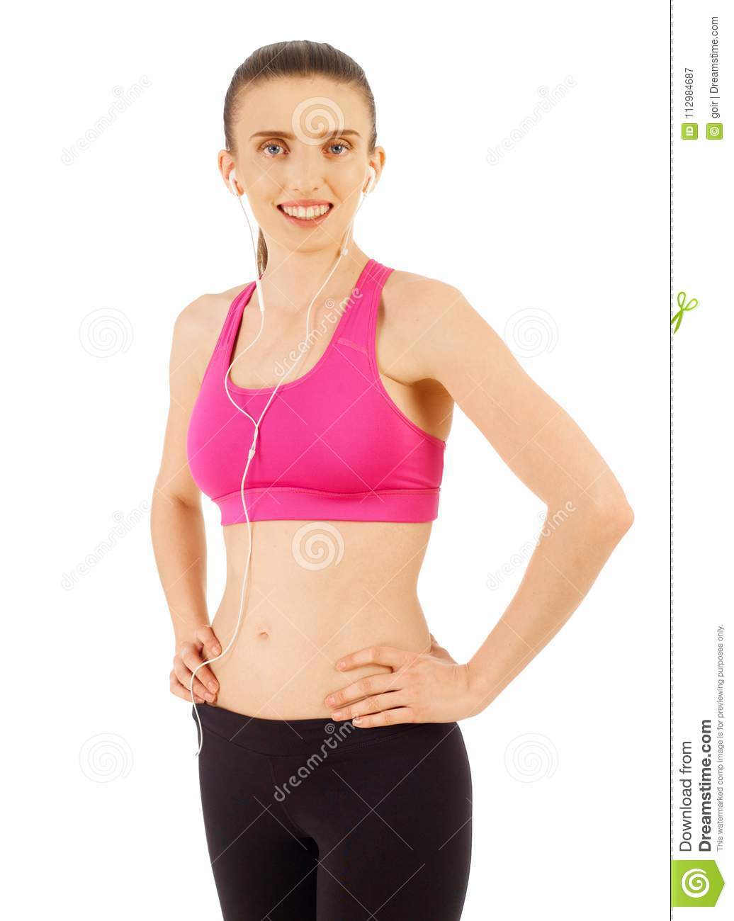 Woman in sport clothes