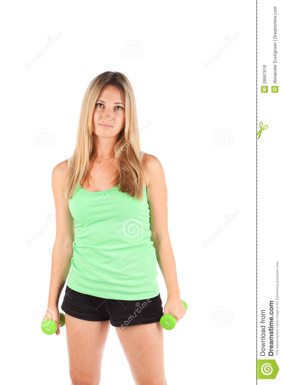Royalty Free Stock Image: Woman in sports clothes