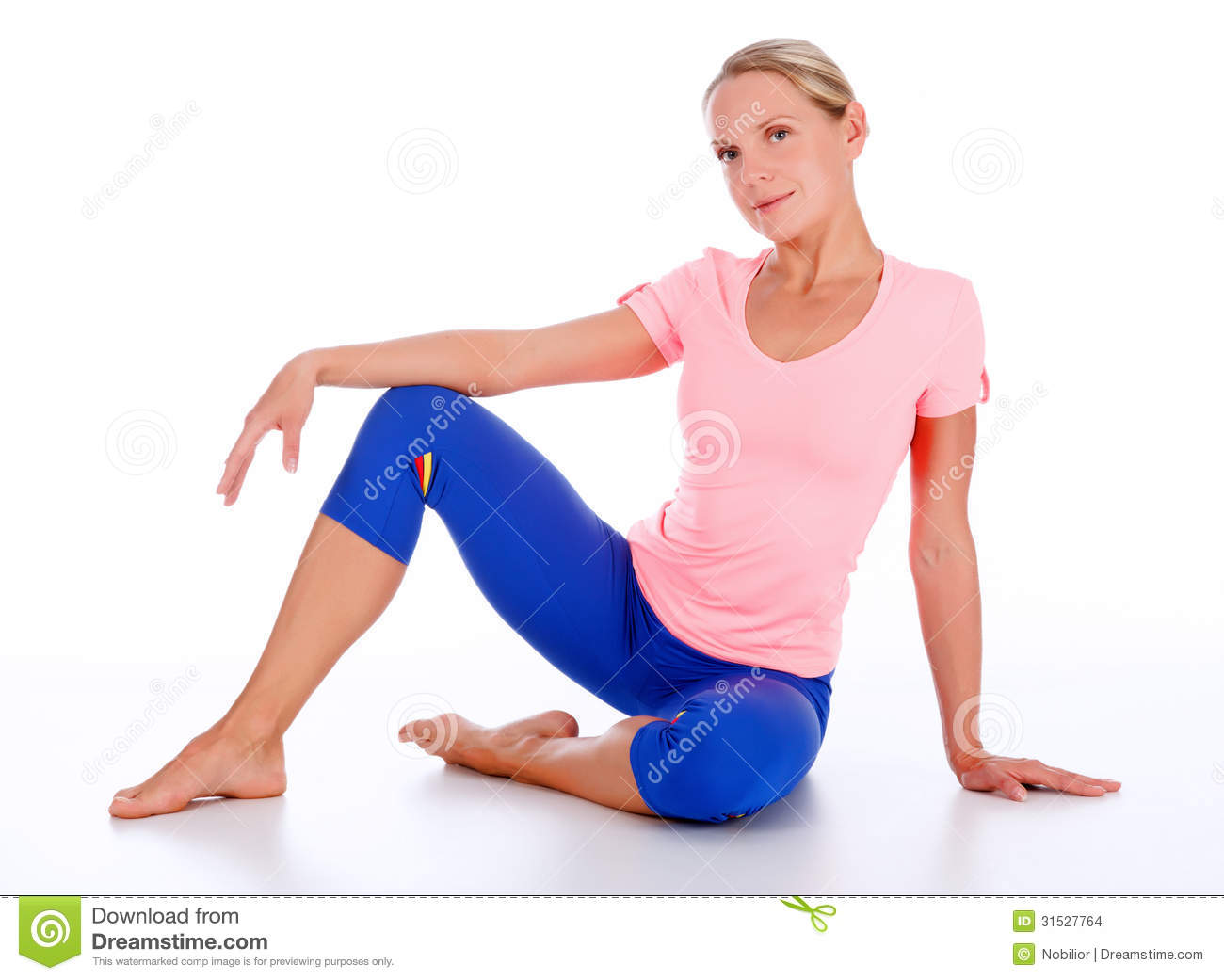 Floor Plans Free Woman In Sports Outfit Stock Images Image 31527764