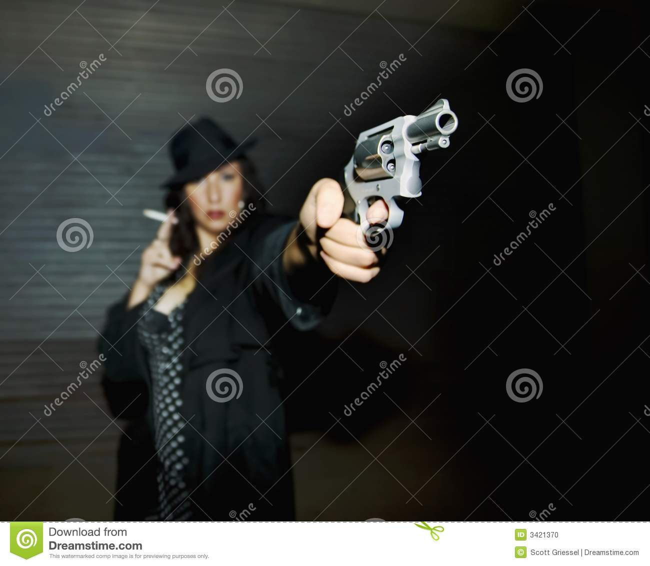 Woman Spy Aiming Gun stock photo. Image of bullet, tough ...