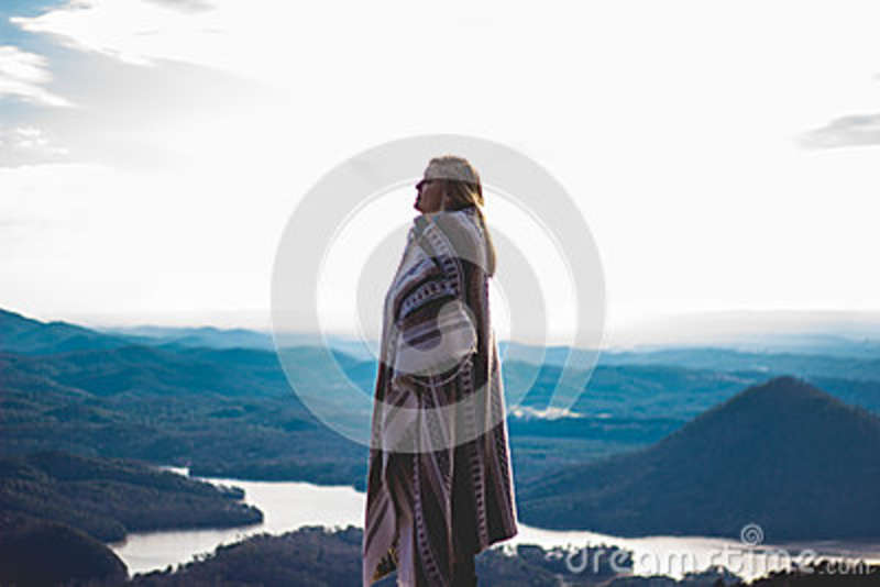 Download Woman Standing stock photo. Image of view, free, mountains - 83023784