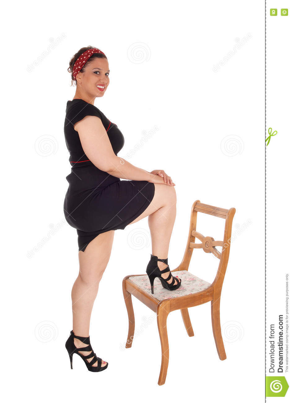 Valuable ebony girl bent over chair apologise