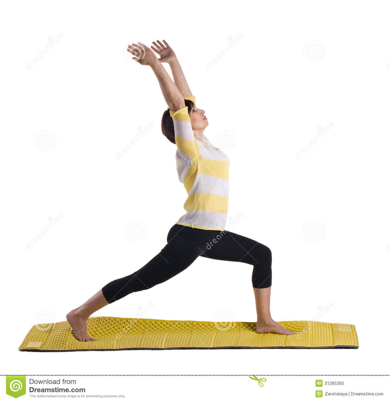 Woman Standing In Yoga Pose Stock Photo - Image: 31265260