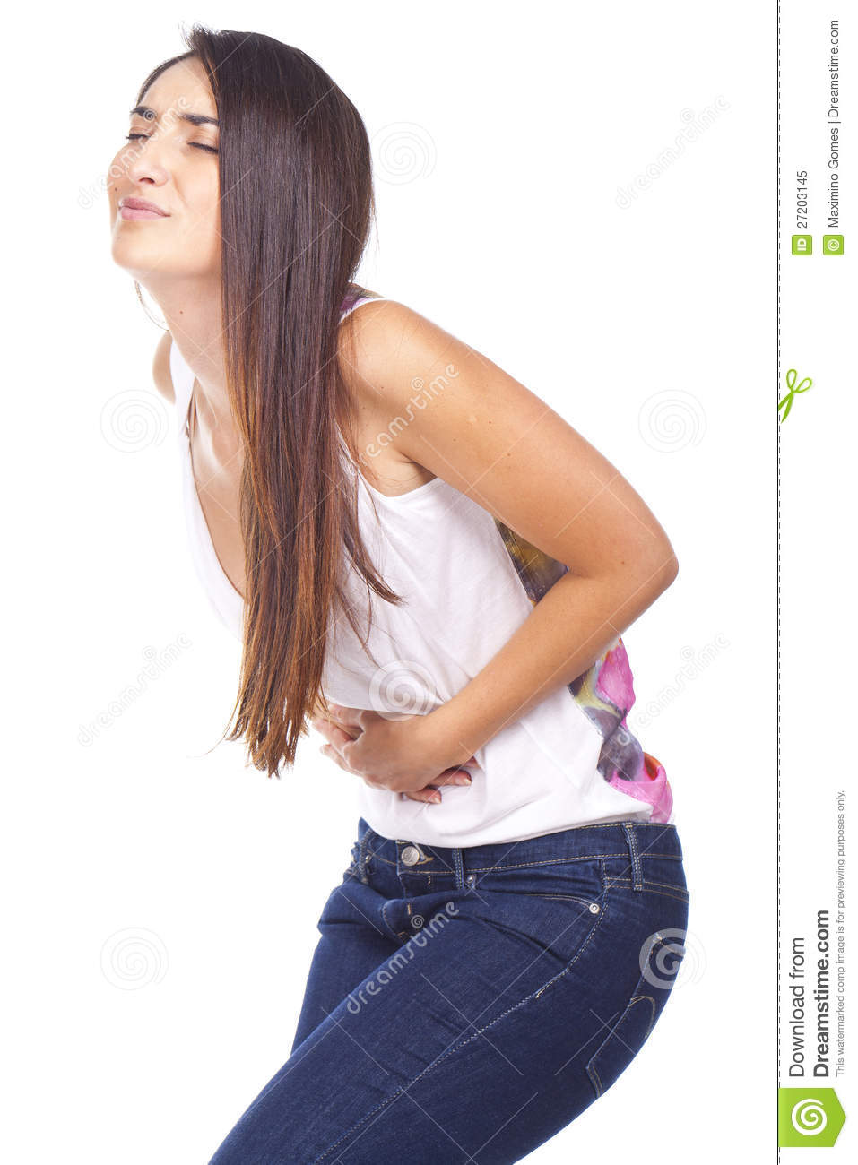 women with stomach aches