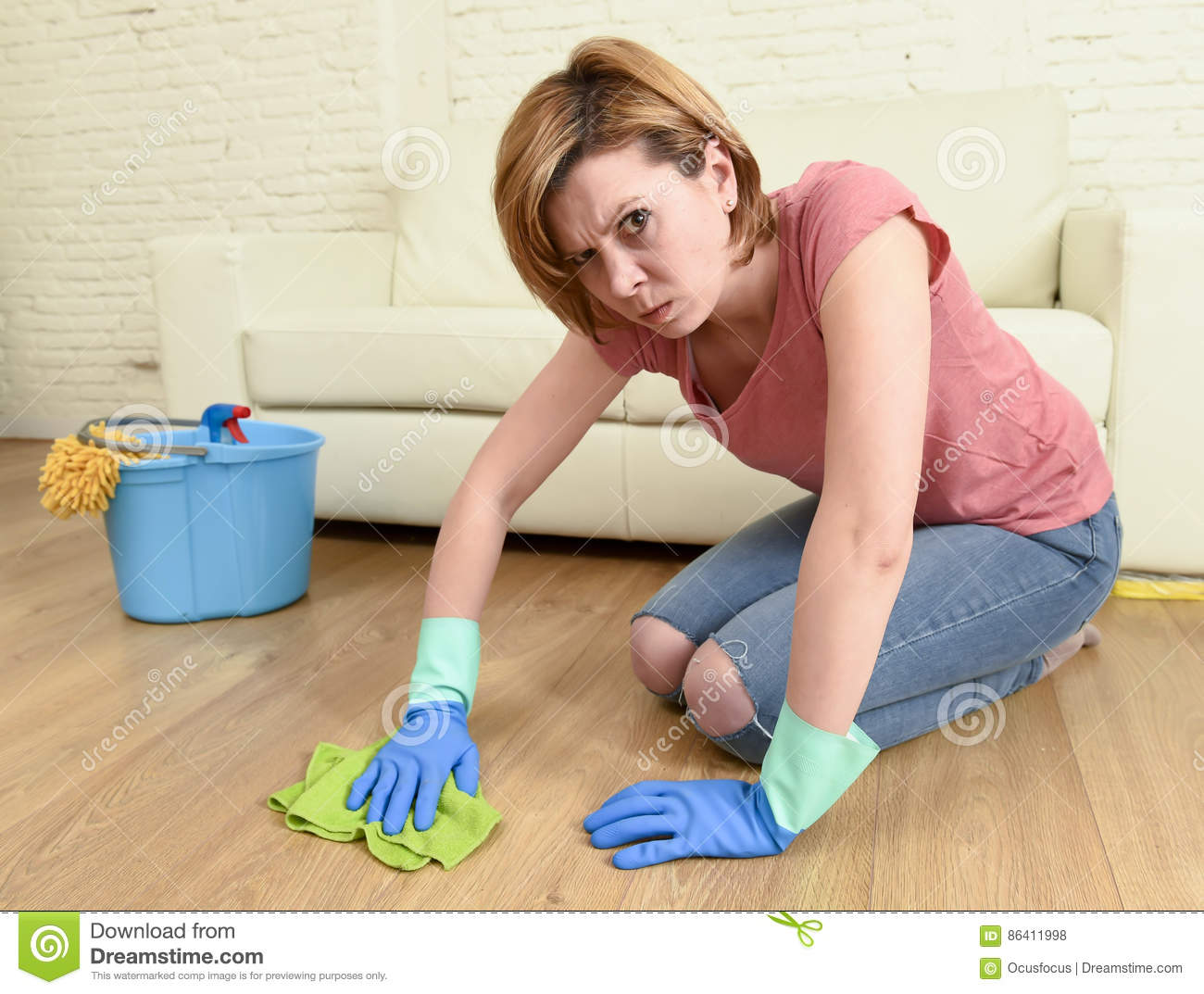 Remarkable, rather Young girl cleaning house