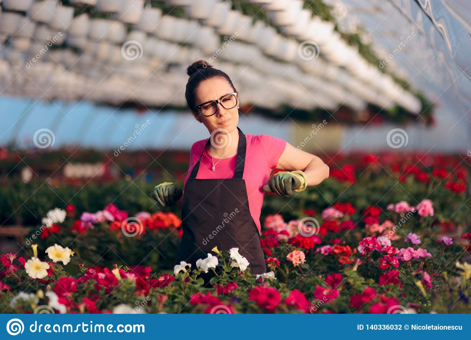Woman Suffering Injuries While Working in Floral Greenhouse