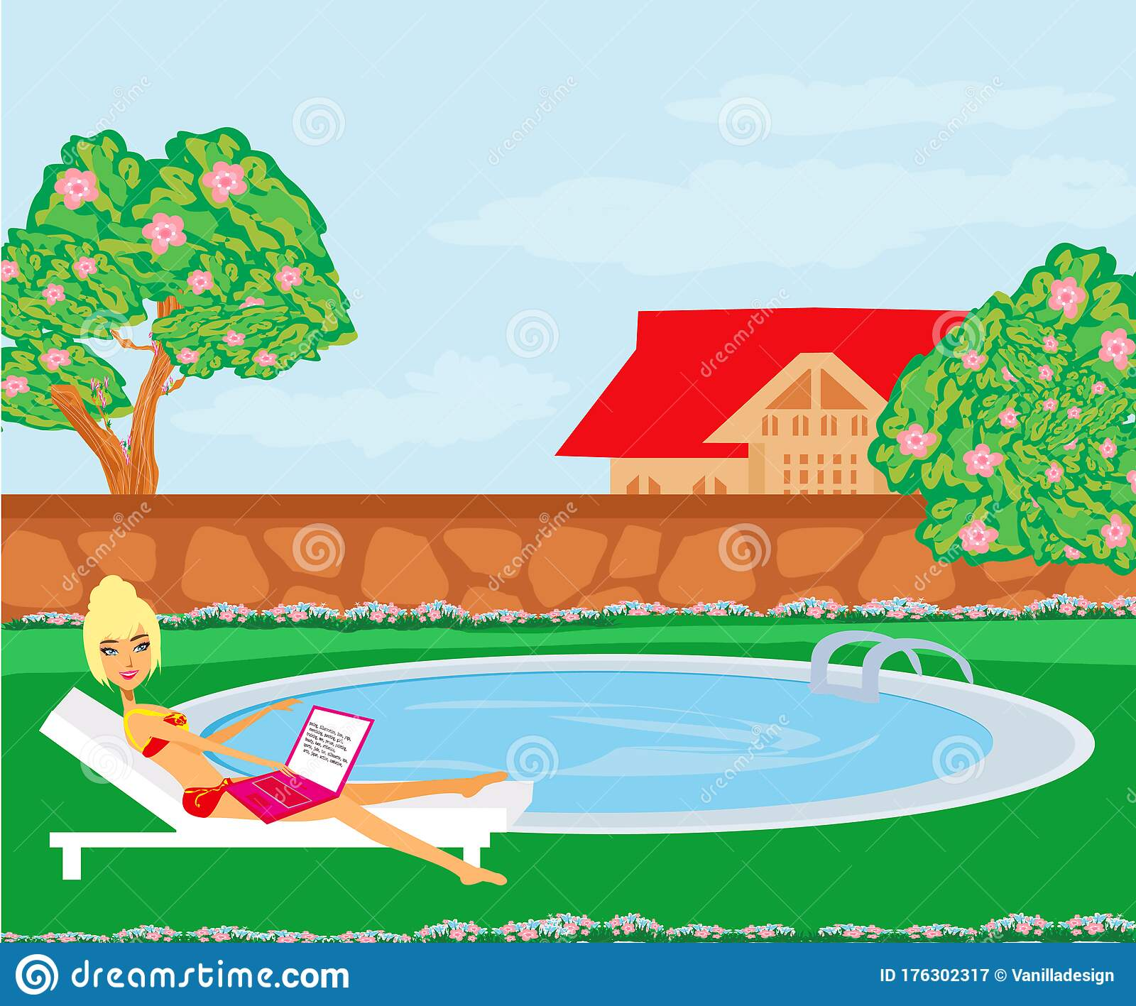 Rural House Swimming Pool Stock Illustrations 45 Rural House Swimming Pool Stock Illustrations Vectors Clipart Dreamstime