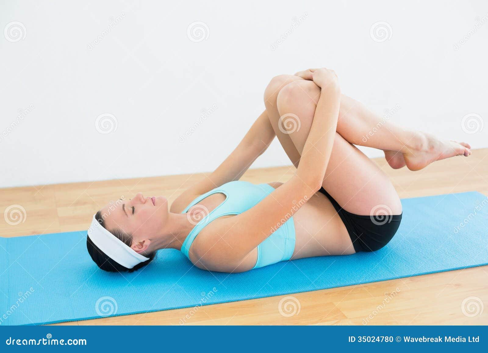 Supine Position Yoga posture on yoga mat