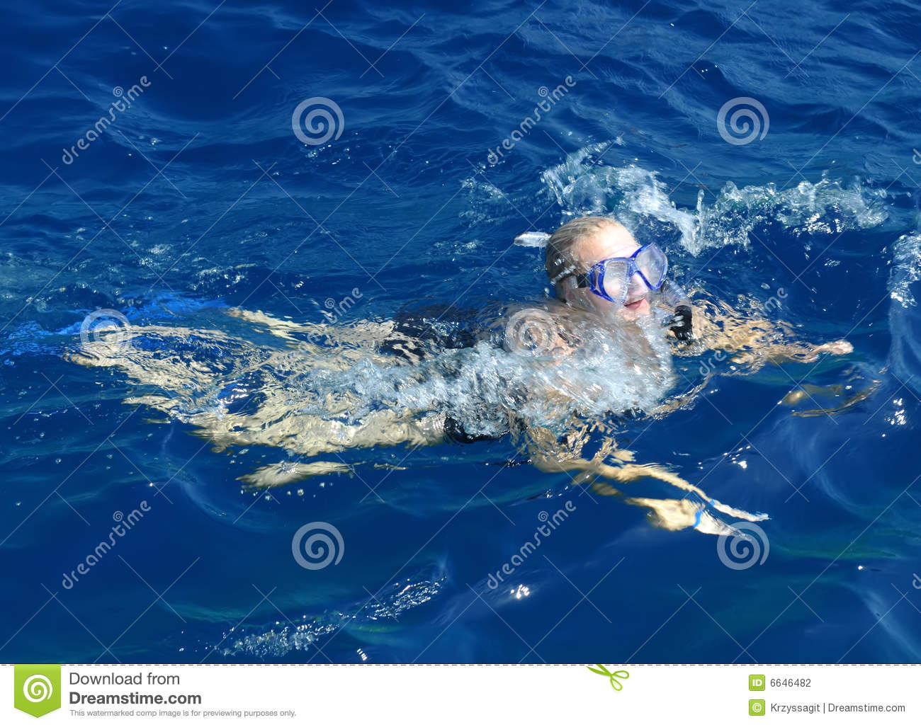 Woman Swimming In Ocean Stock Photography - Image: 6646482