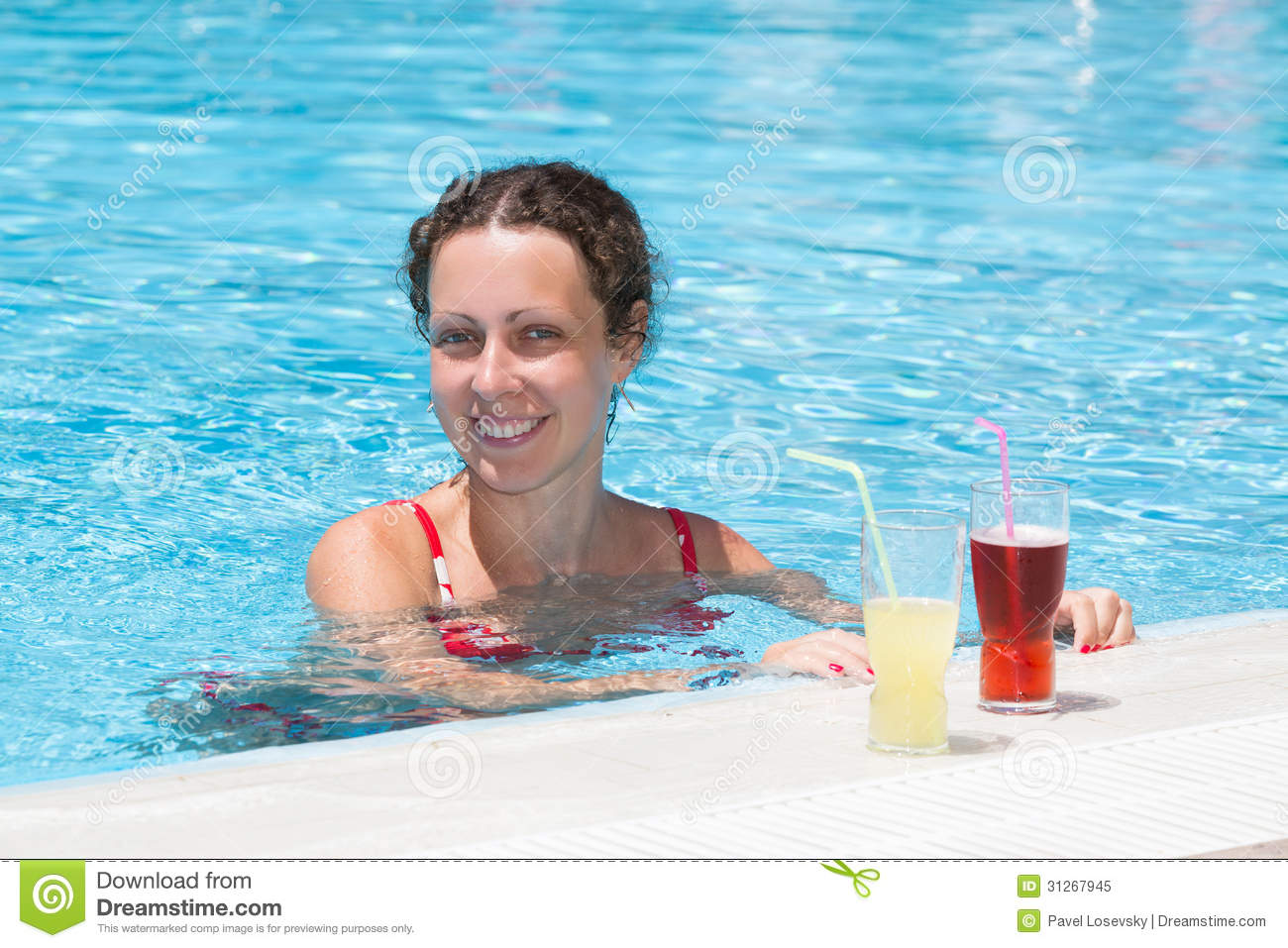 Woman Swimming In The Pool Royalty Free Stock Photo Image 31267945