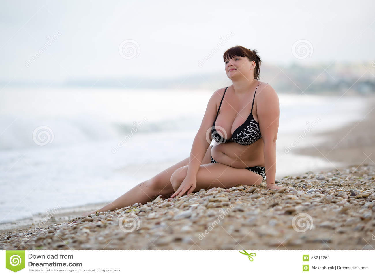 564ab23611 Woman In Swimwear At The Sea Stock Image - Image of leisure, busty ...