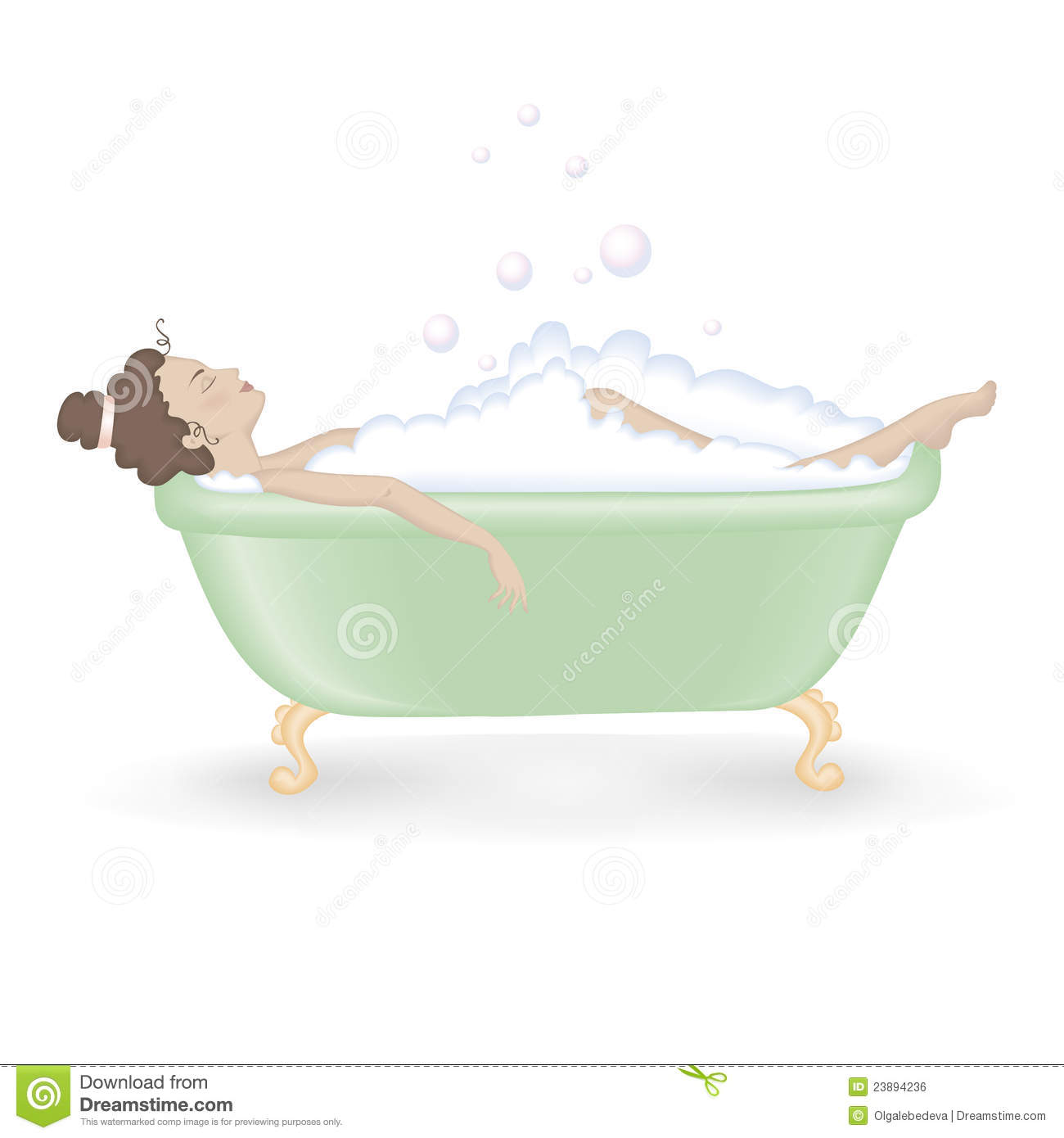 Woman Taking A Bath With Foam Royalty Free Stock Image ...