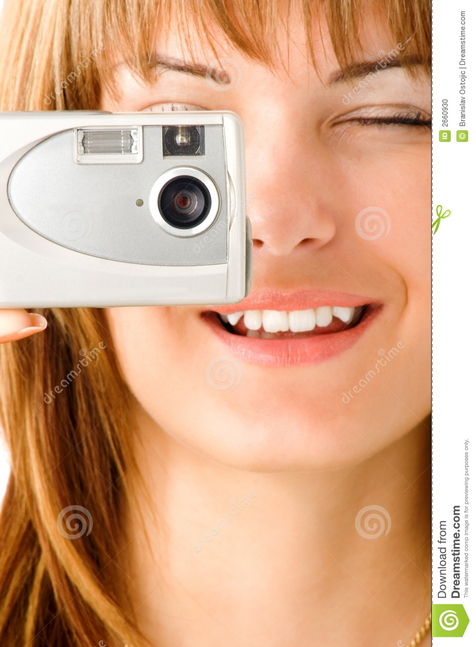 Woman taking digital picture
