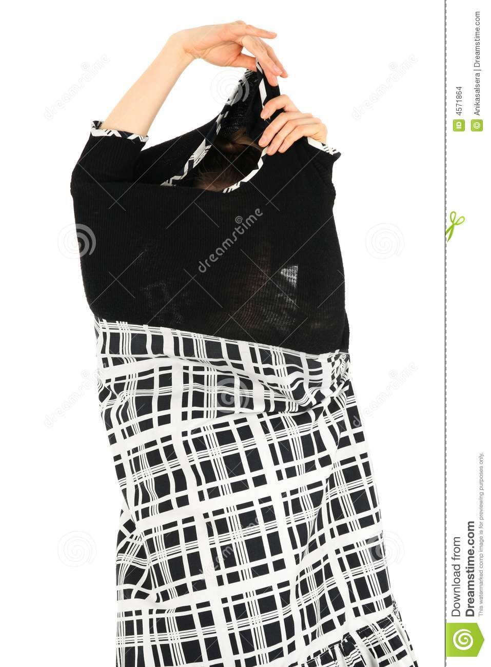 Woman Taking Off Her Dress Stock Photo Image Of Girl 4571864