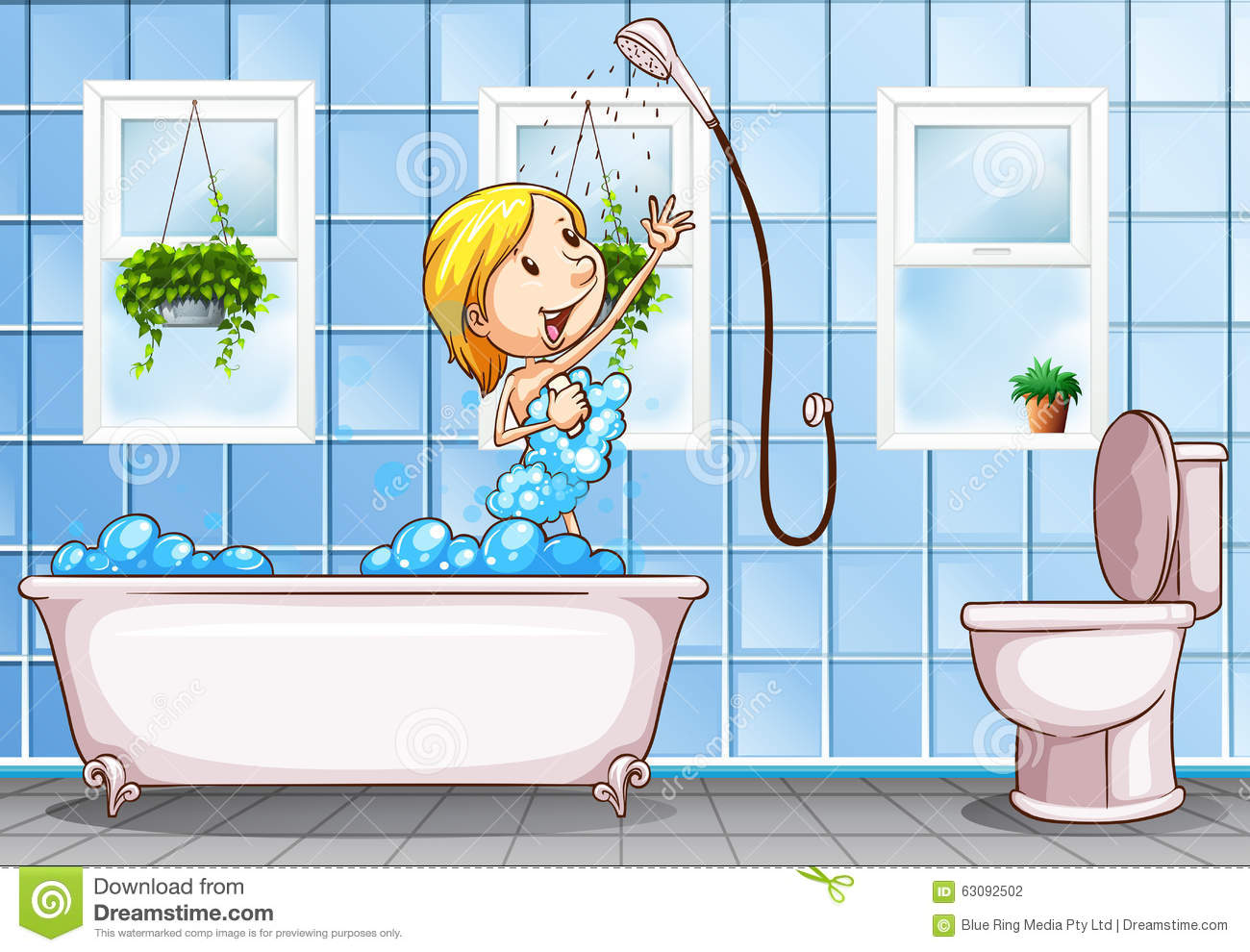 Taking Shower Stock Illustrations – 631 Taking Shower Stock ...