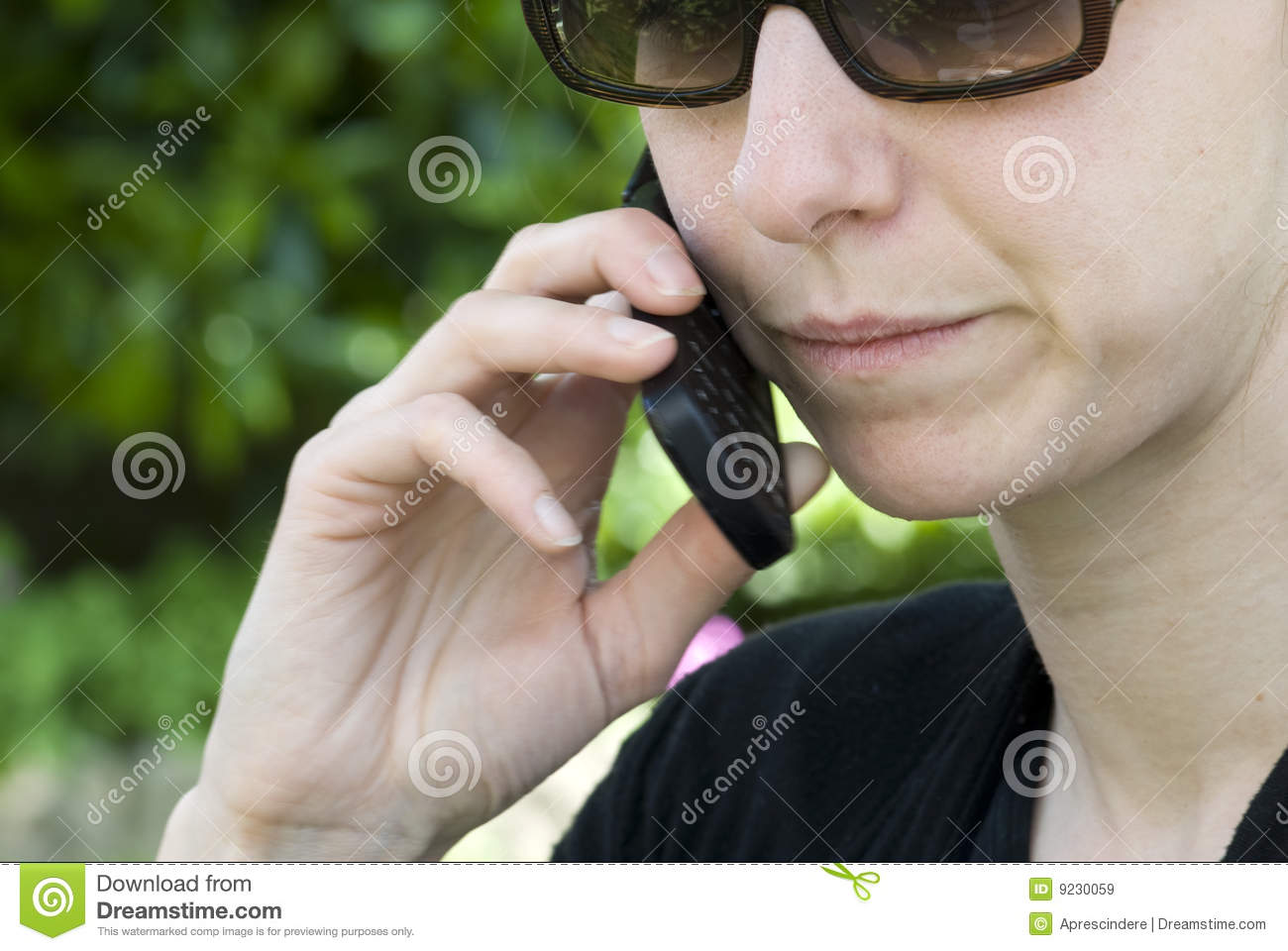 Woman Talking On Cell Phone Royalty Free Stock Images ...