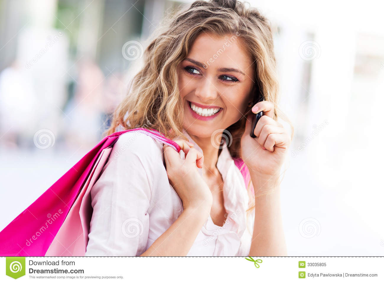 Woman Talking On Mobile Phone Stock Image - Image of ...