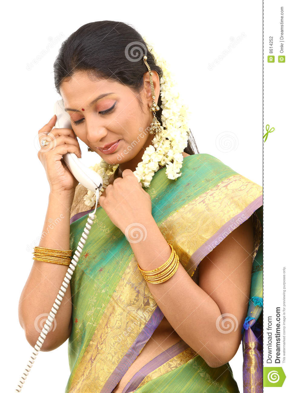 Woman talking with phone