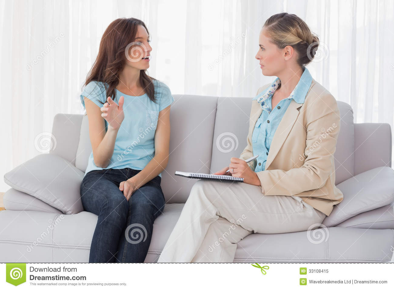 Woman Talking To Her Psychologist Stock Image - Image ...