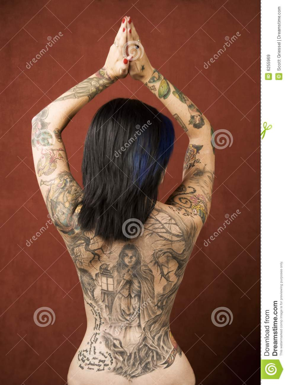 Nude women with tattoos