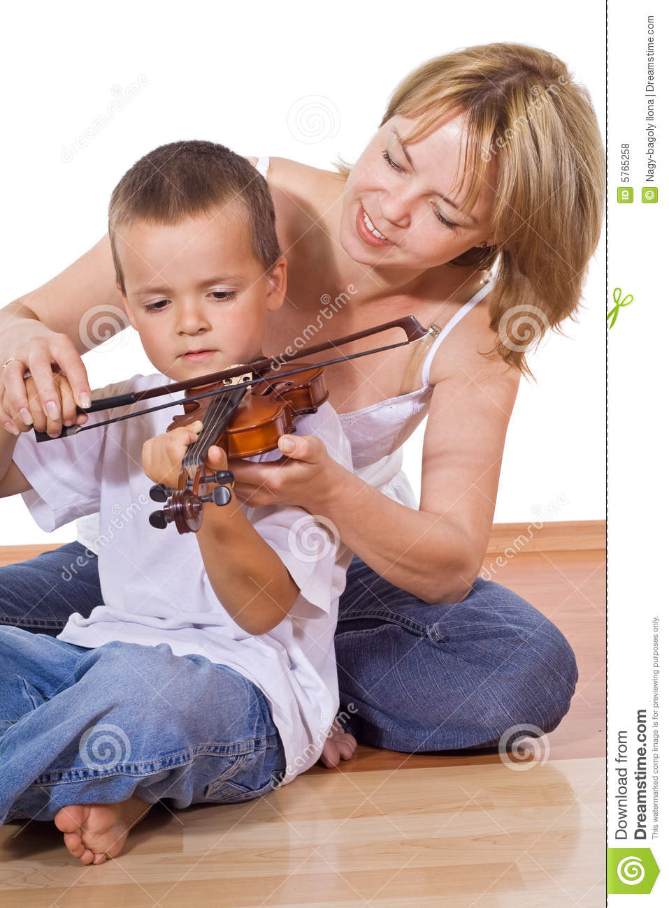 Woman Teaching Her Son Royalty Free Stock Photos Image