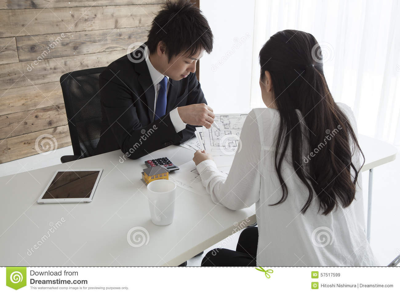 woman to look for new home stock photo image 57517599