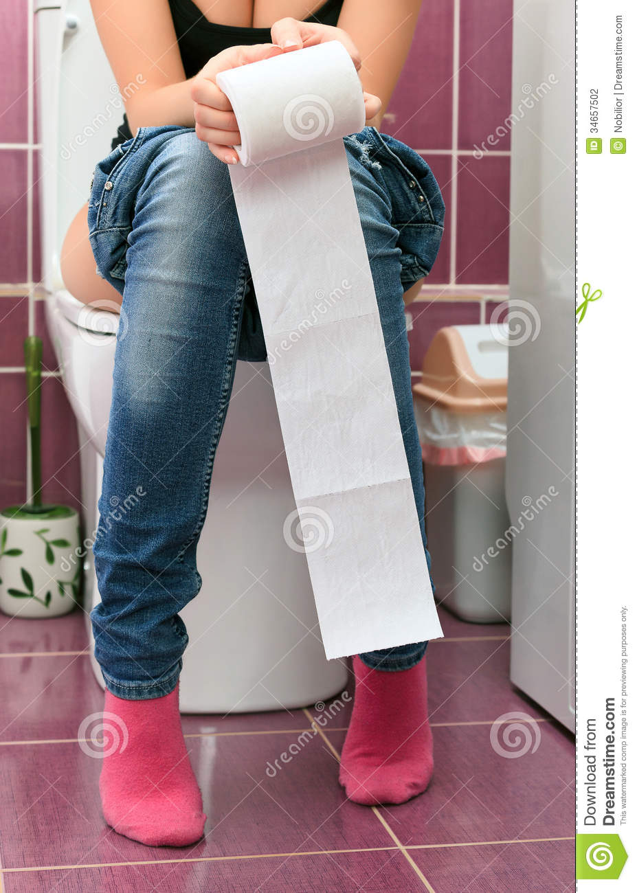 Woman In A Toilet Stock Photography - Image: 34657502