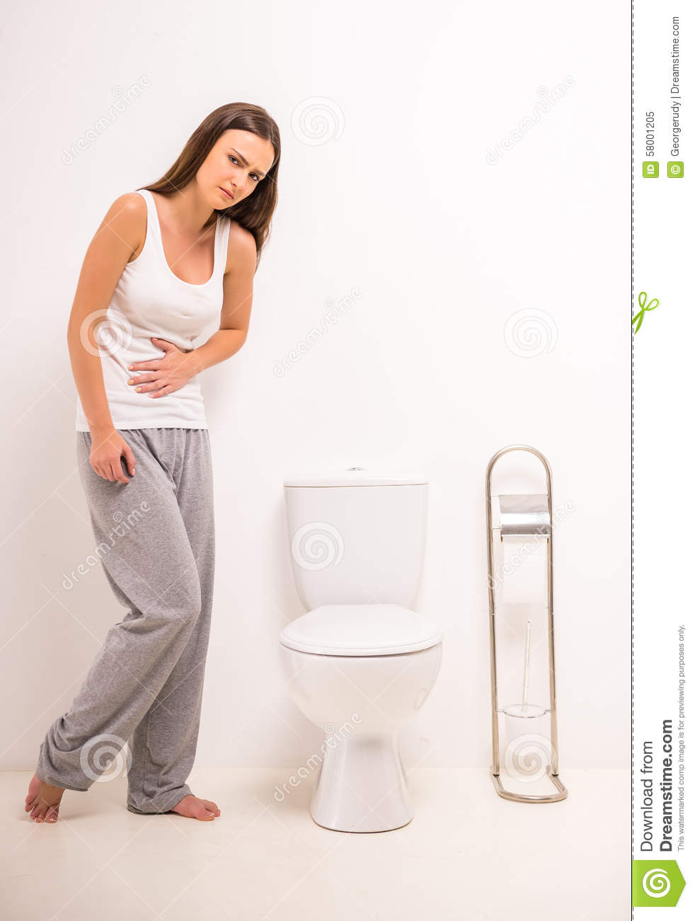 Woman In Toilet Stock Photo Image 58001205