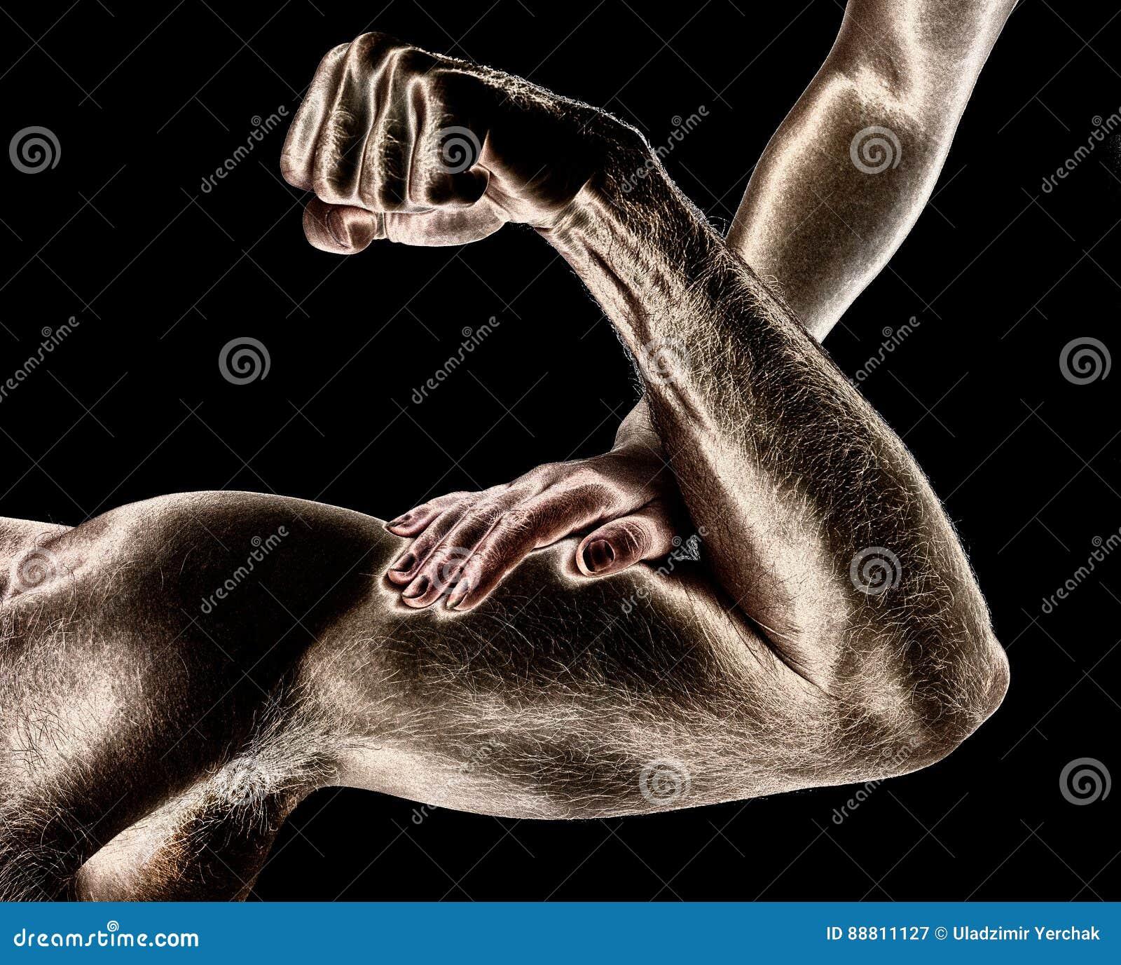 What touches a man