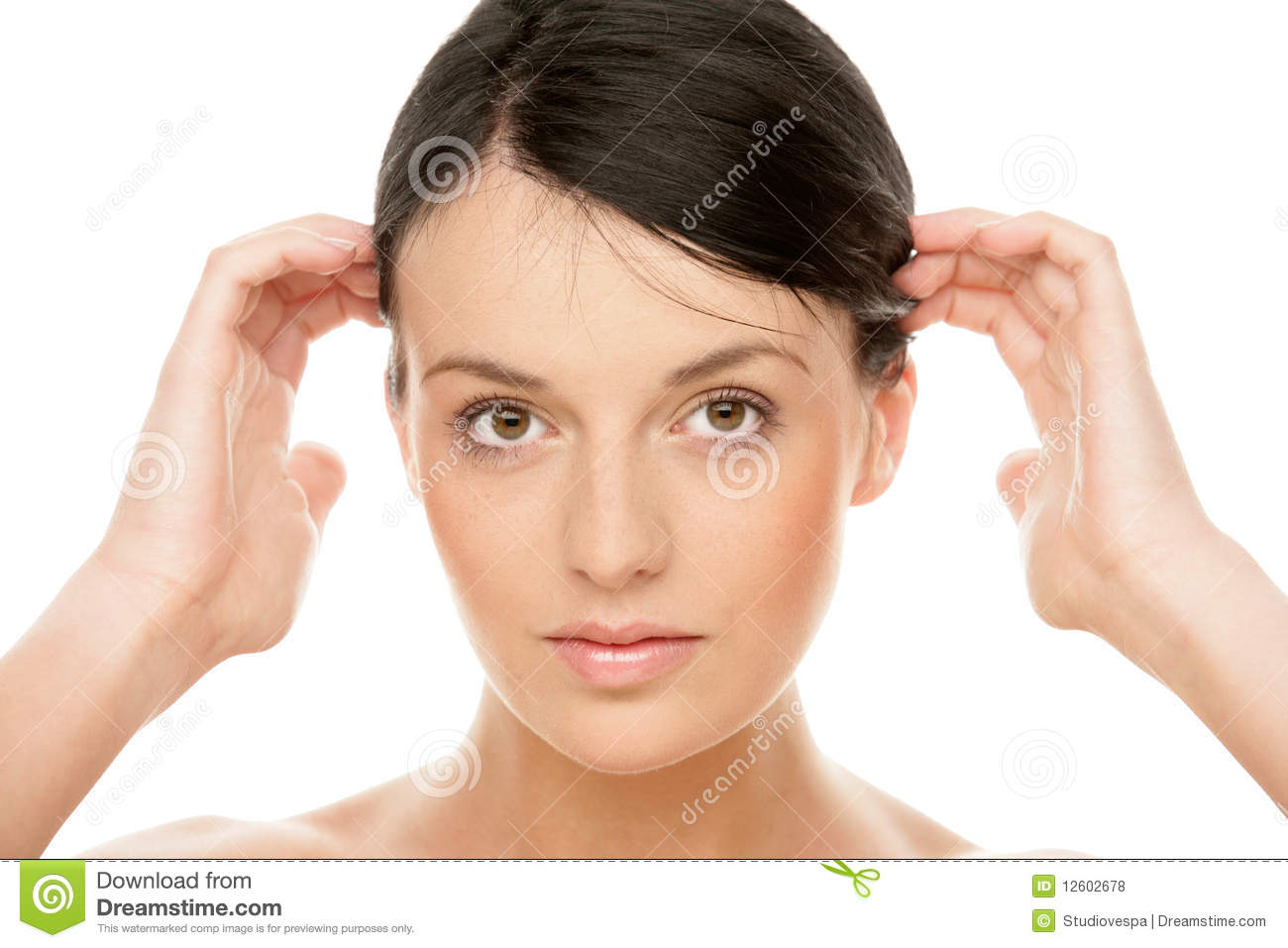 Woman Touching Head Royalty Free Stock Photos Image