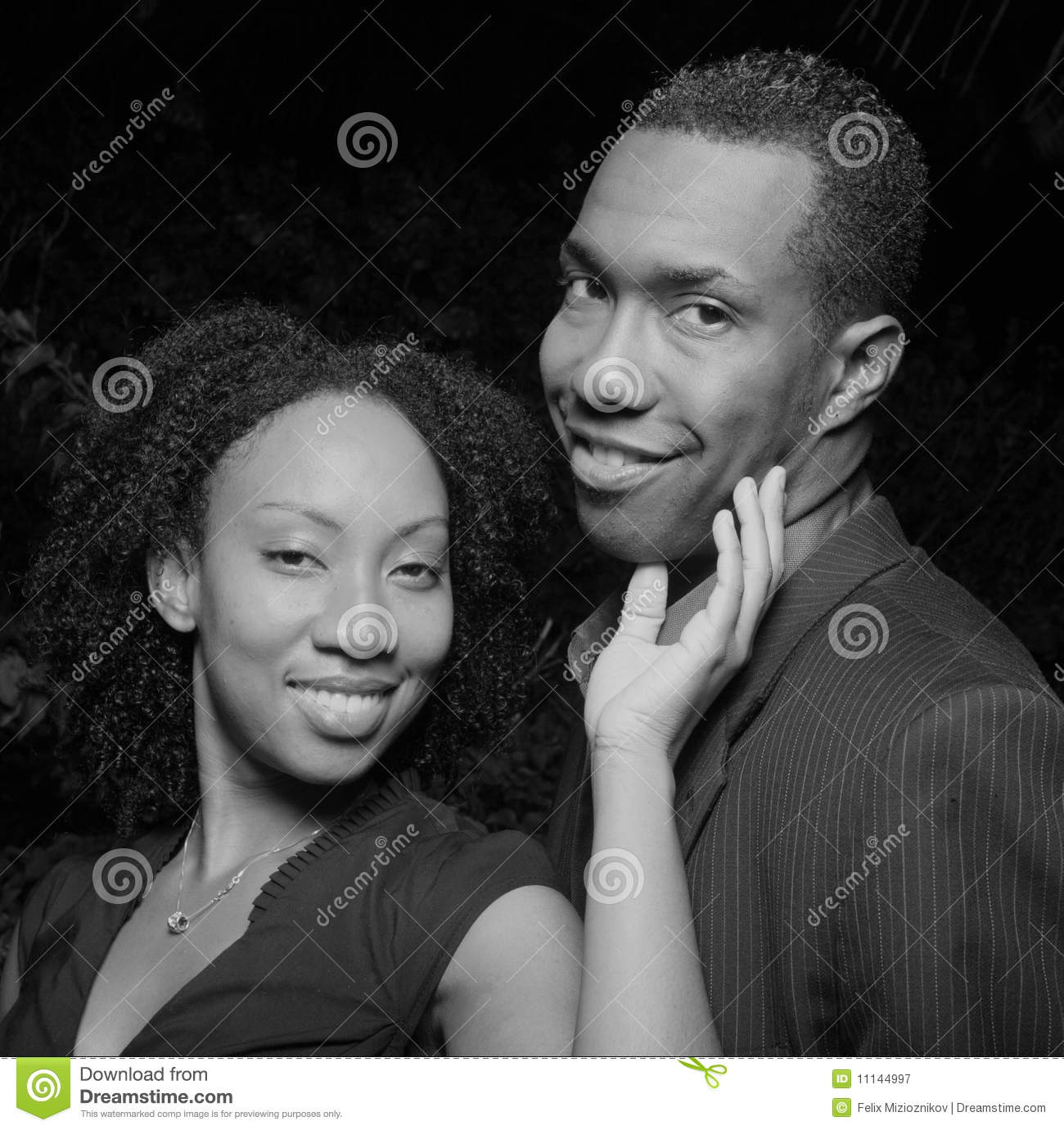 Woman Touching Mans Face Royalty Free Stock Photography
