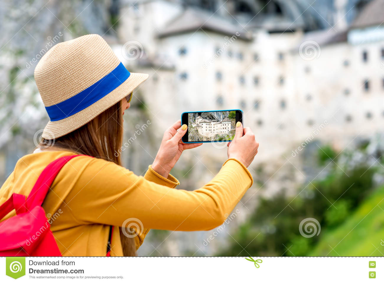 Woman traveling in Slovenia