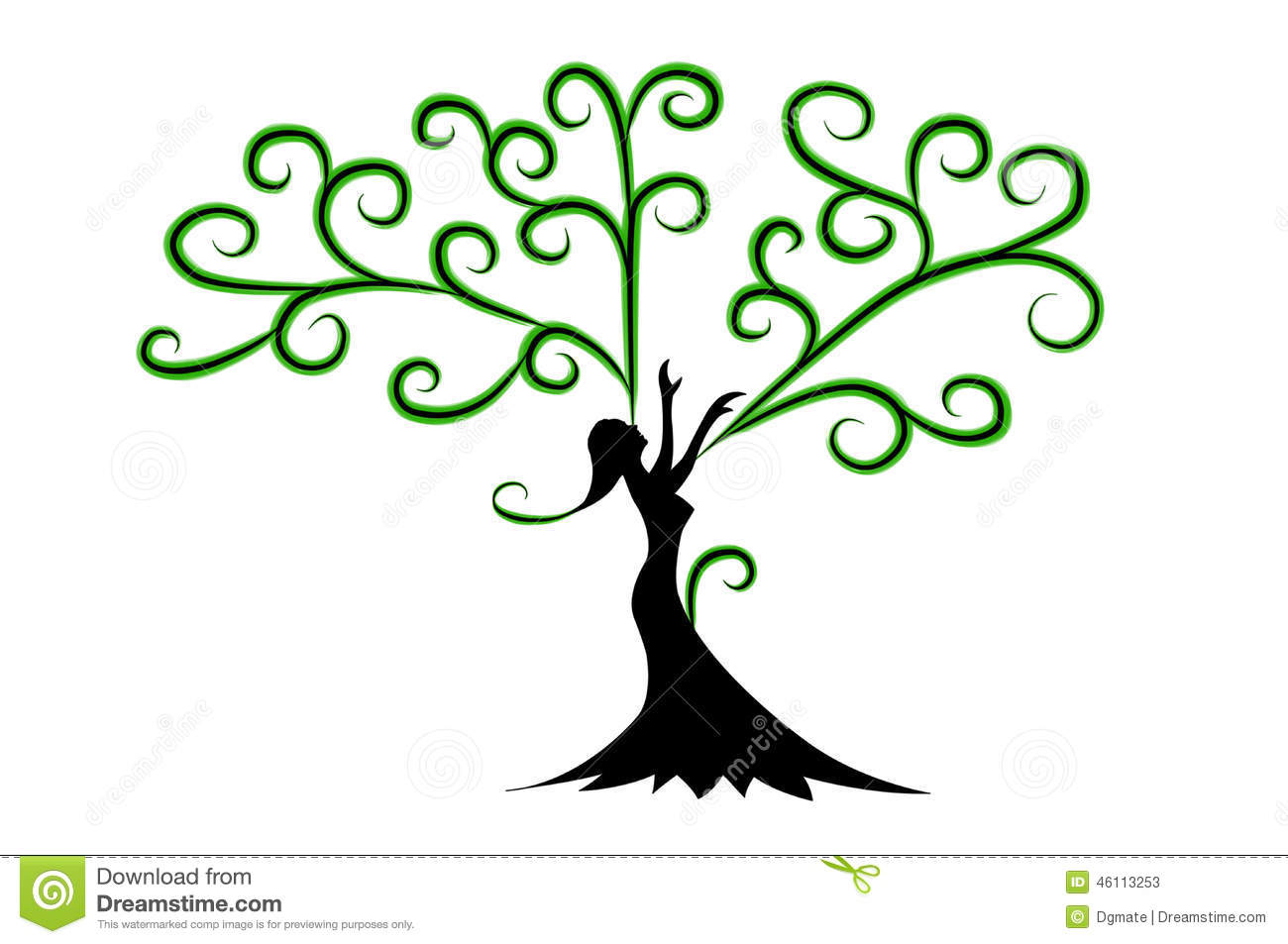 Woman Tree with hands