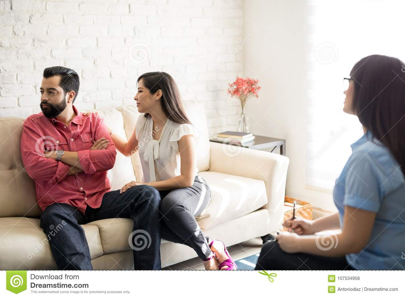 Woman Trying To Make Up Quarrel Stock Photo Image Of Relationship