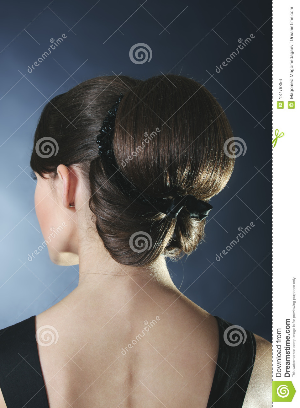 Woman Turned Back Stock Photo  Image Of People  Woman