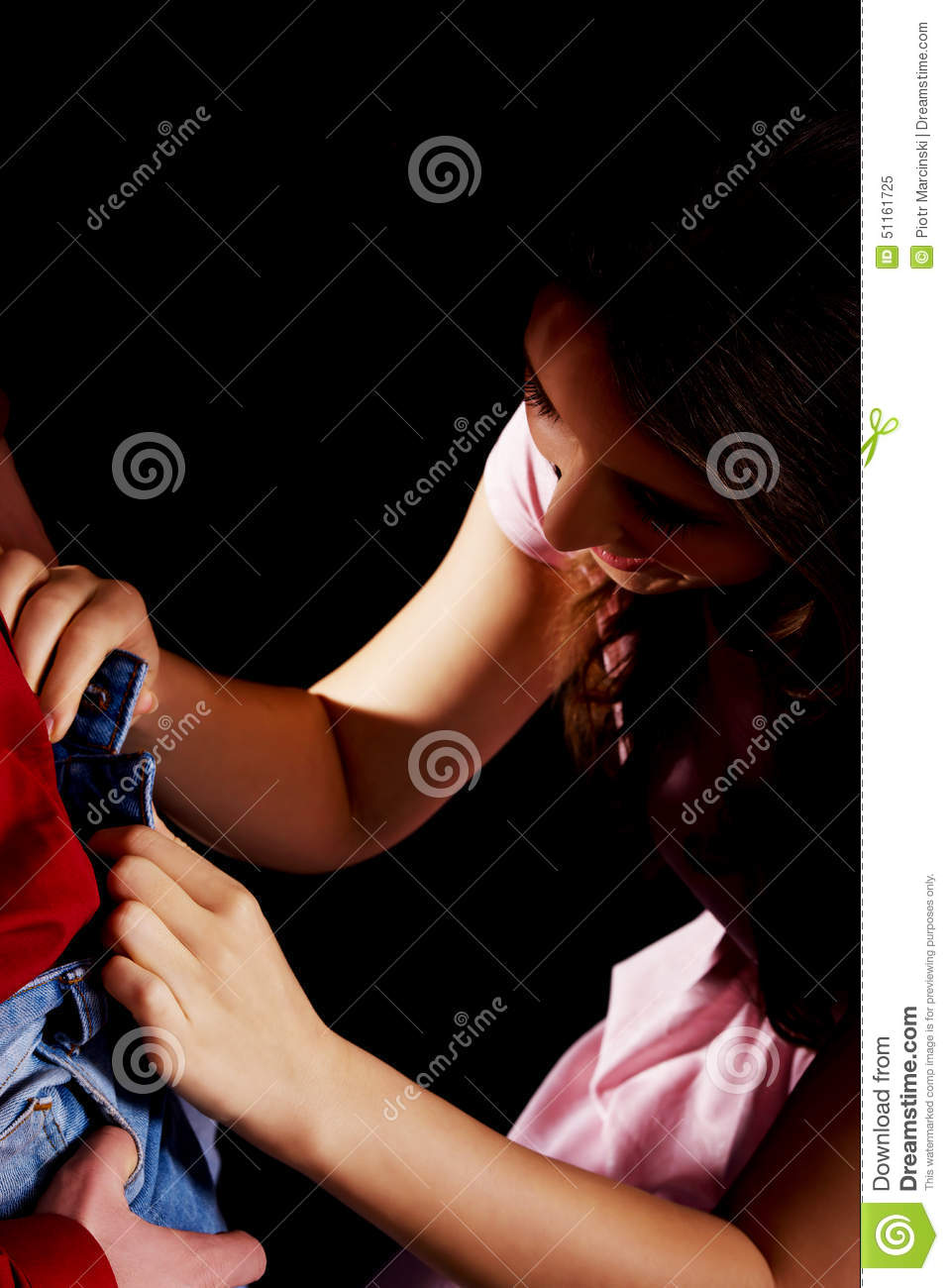 Woman Undressing Her Man Stock Photo - Image 51161725-9060