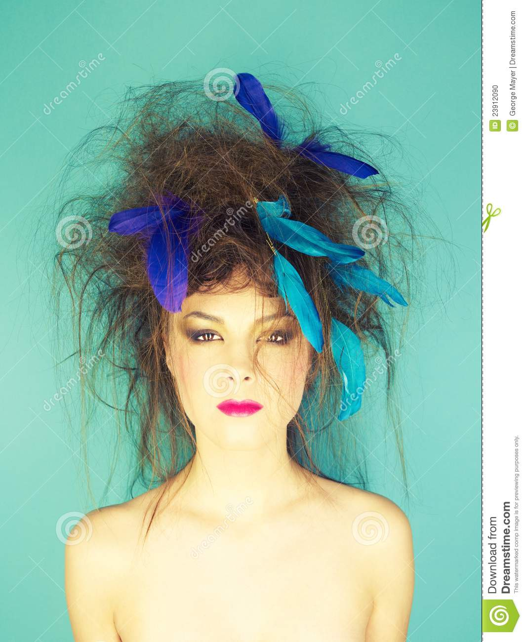 Woman With An Unusual Hairstyle Stock Photo - Image of backcombed ...
