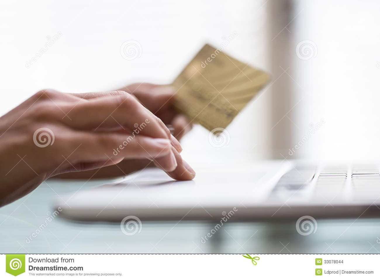 close up of business woman hands using credit card and laptop computer royalty free stock image. Black Bedroom Furniture Sets. Home Design Ideas