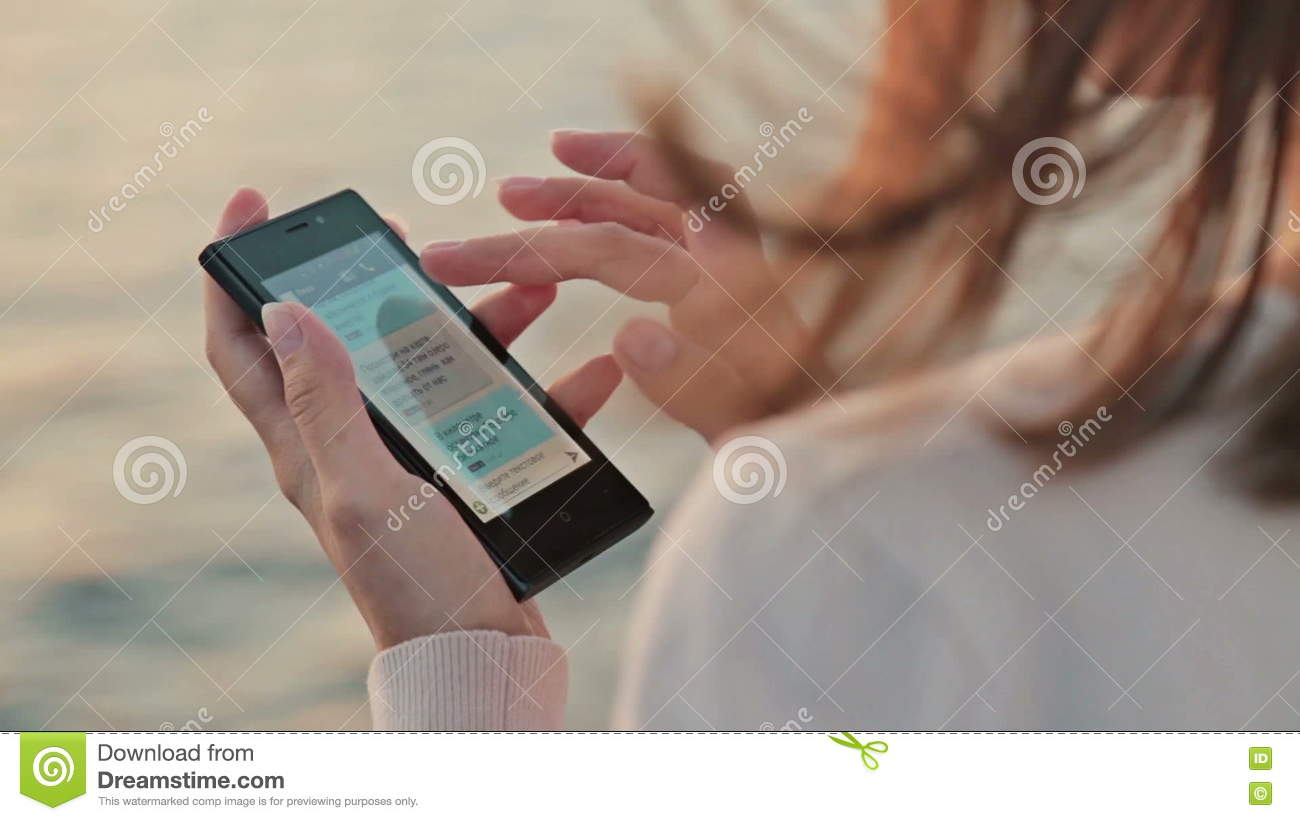 Woman Using Mobile Phone On Cruise Ship Stock Footage Video Of - How to use cell phone on cruise ship