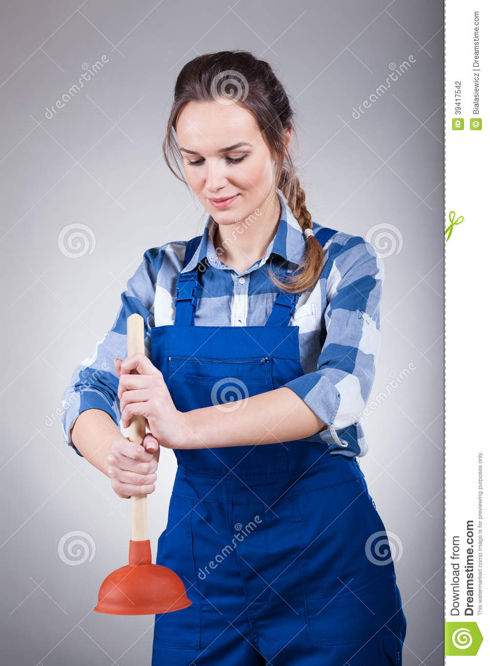 Woman With A Plunger 20