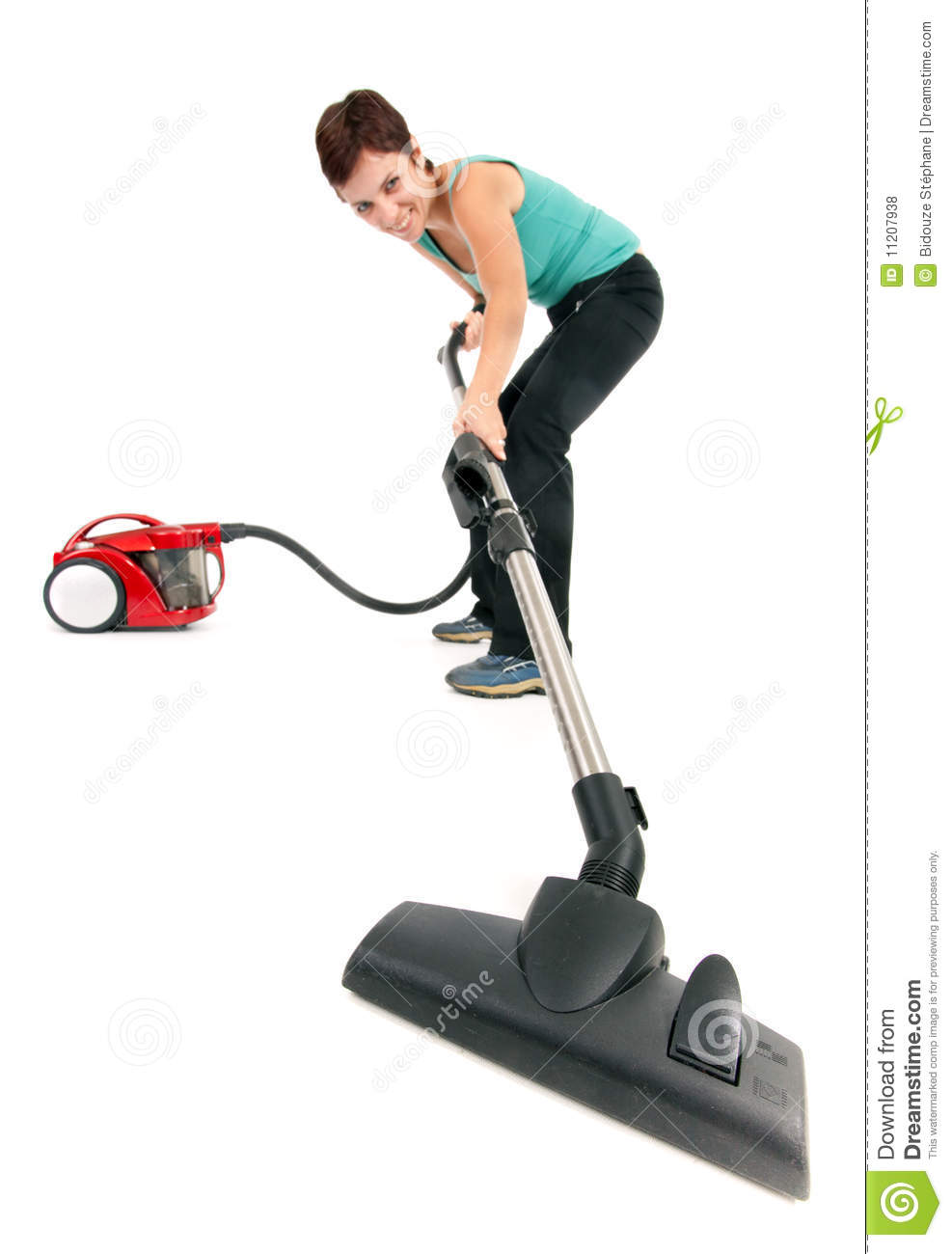 Woman With Vacuum Cleaner Stock Photo Image Of Female