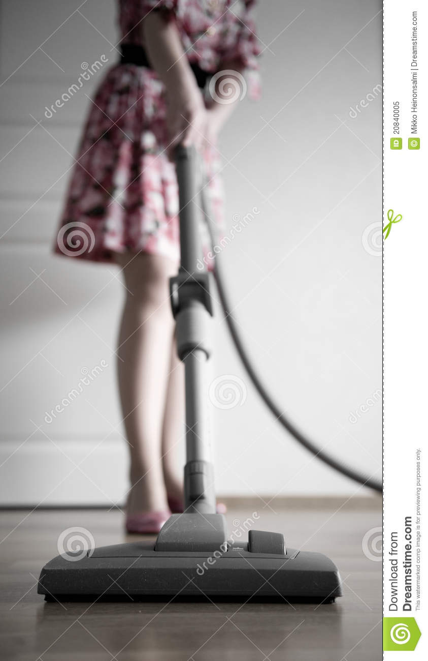 Woman Vacuuming Royalty Free Stock Photo Image 20840005