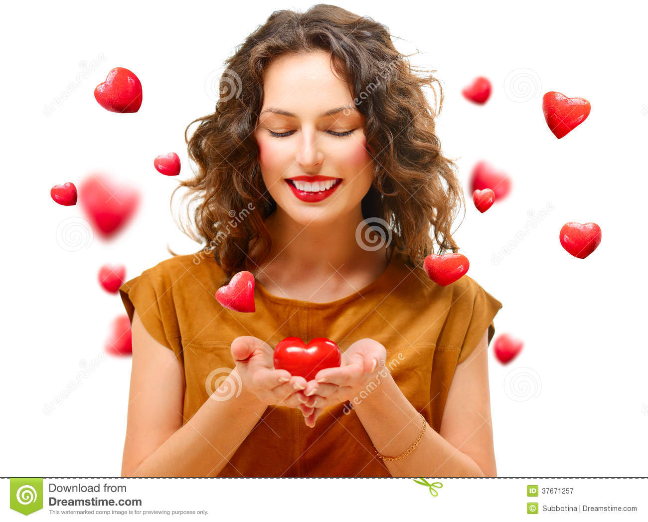 Woman with Valentine Heart