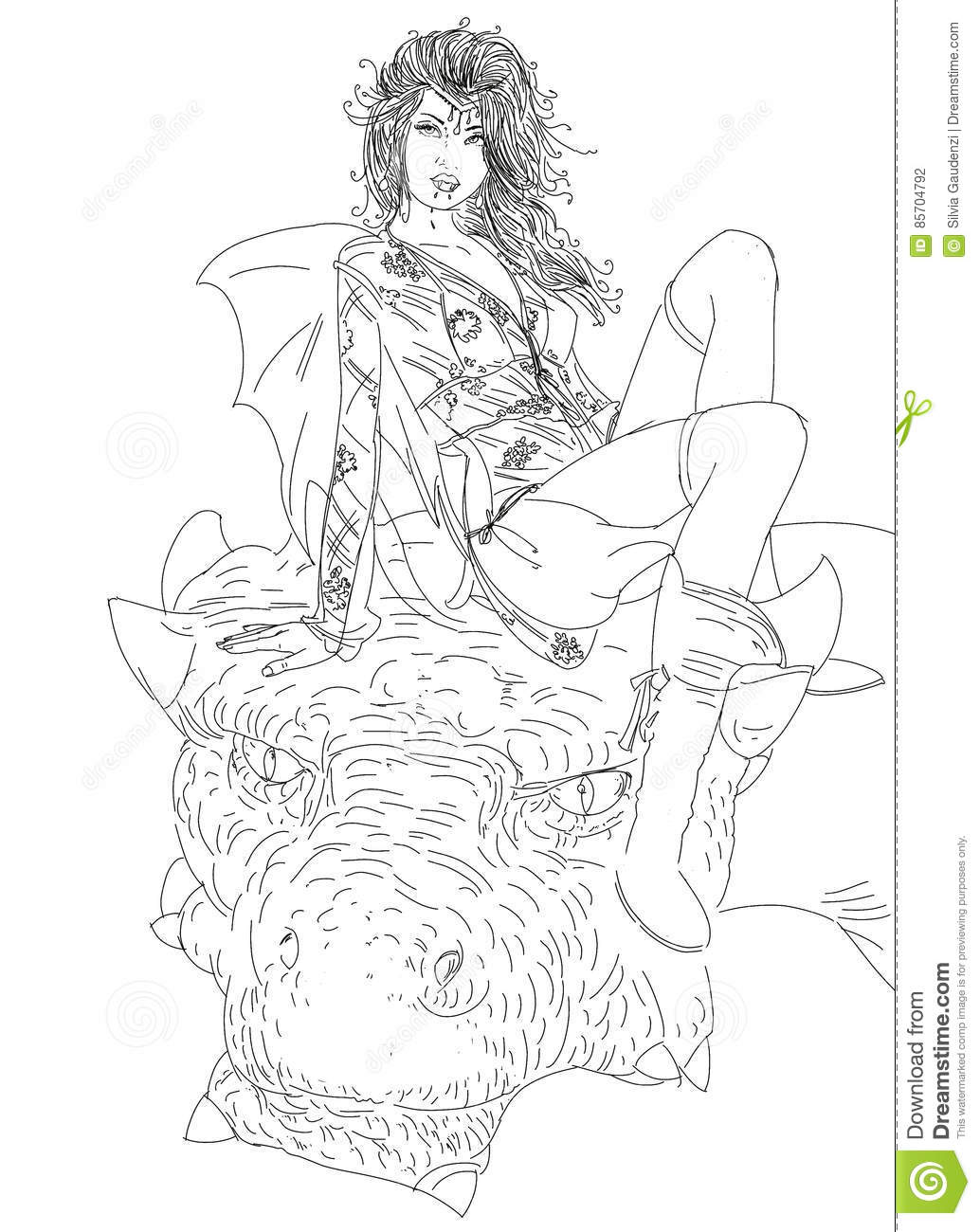 Woman vampire with dragon, woman riding a dragon in the night Starry and mysterious. comic inspired images gives free domain.