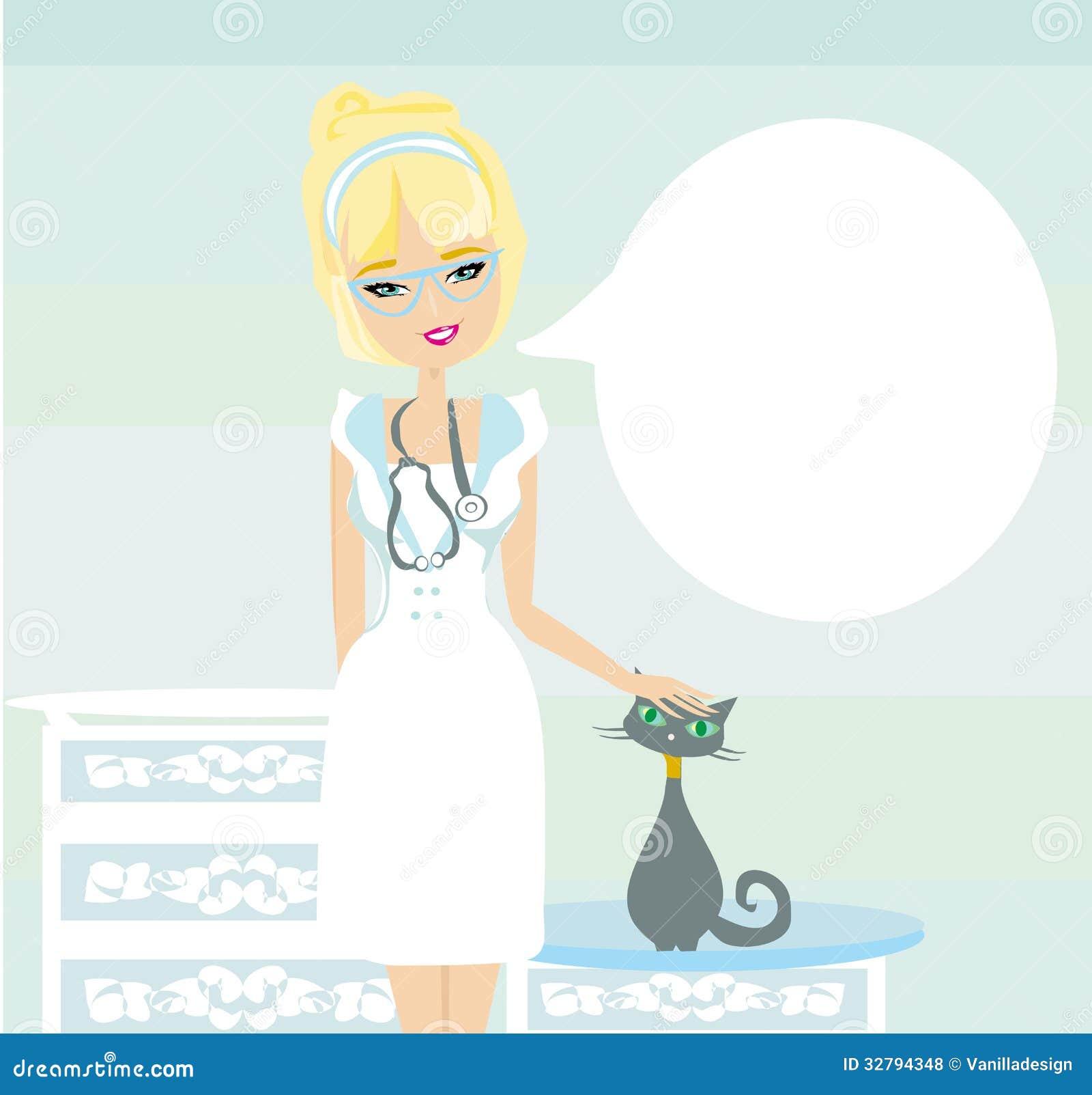 http://thumbs.dreamstime.com/z/woman-veterinarian-treated-cat-illustration-32794348.jpg Girl