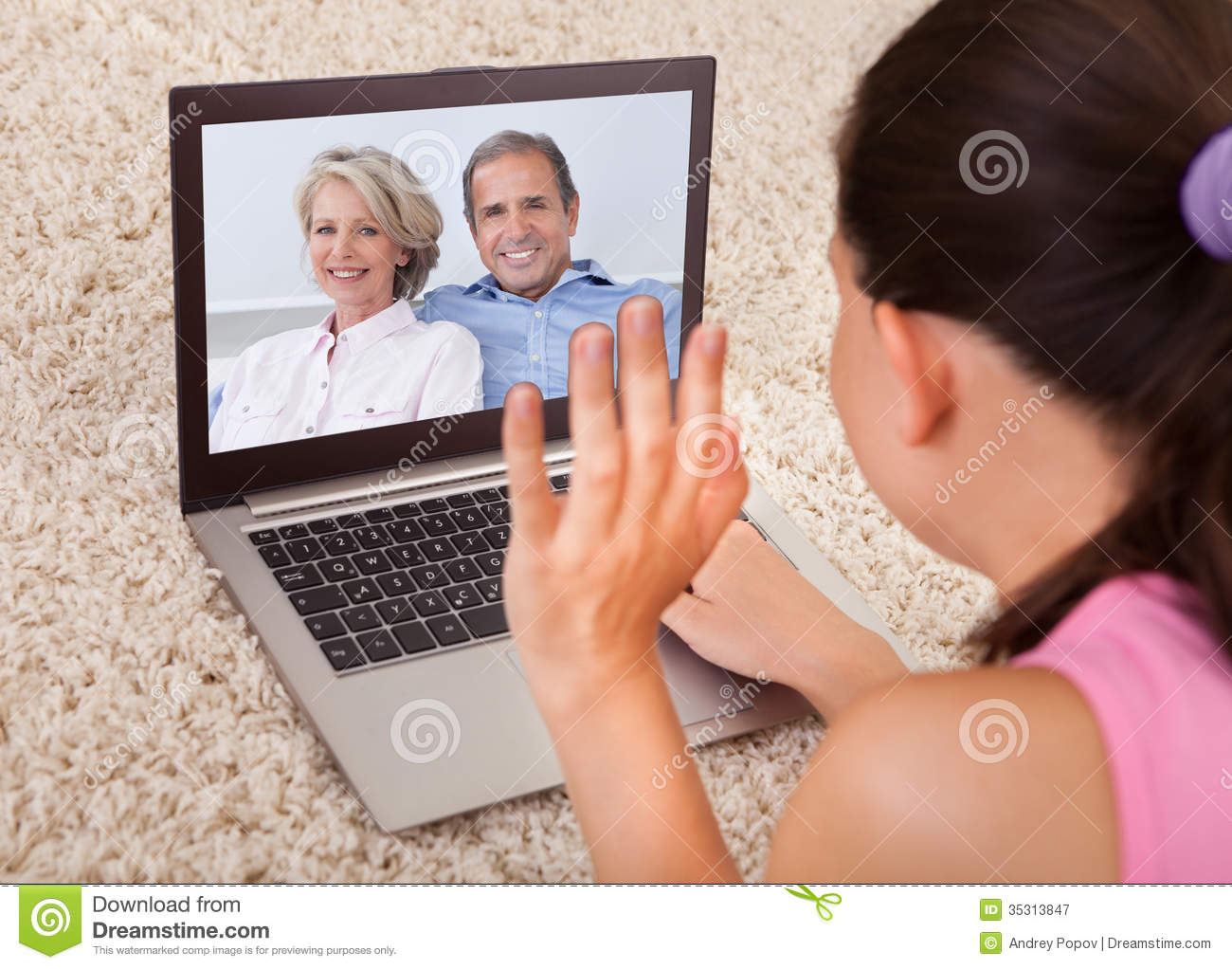 video chat with woman