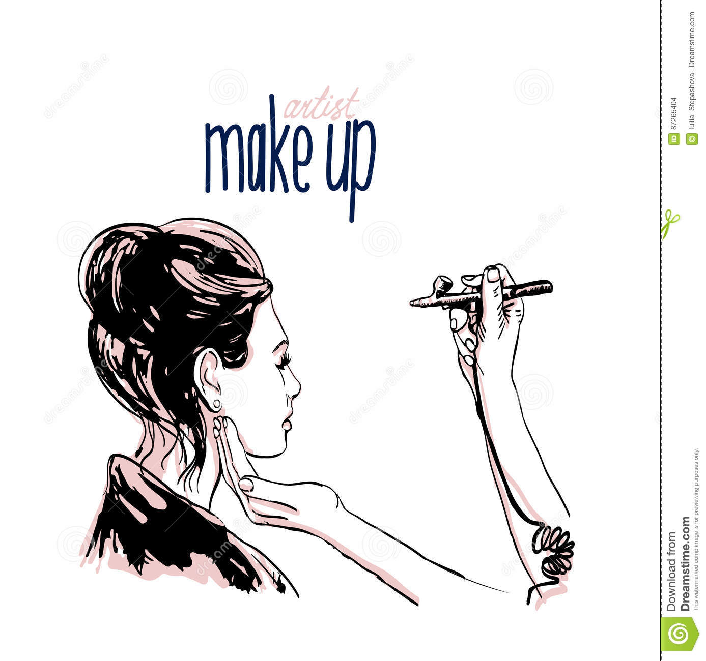 Makeup Artist Cartoon Mugeek Vidalondon