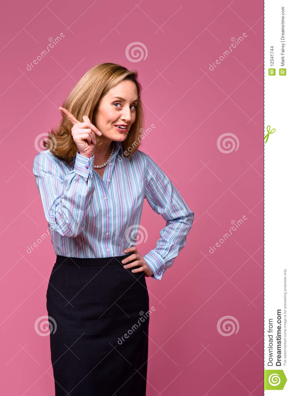 Woman Wagging Finger Stock Photo Image Of Colour