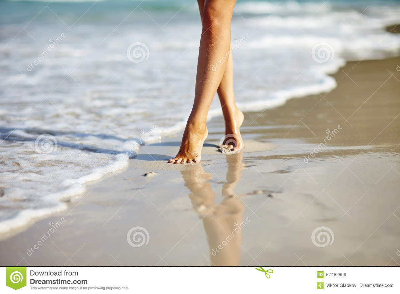 Woman walking on a beach royalty - Royalty Free Stock Photo Download Woman Walking On The Beach