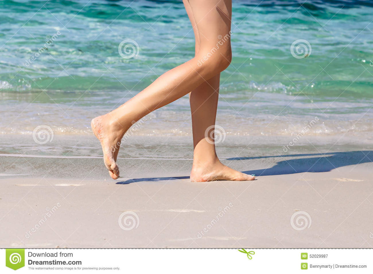 walking on the beach naked